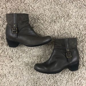Clark's Ankle Heeled Leather Boots